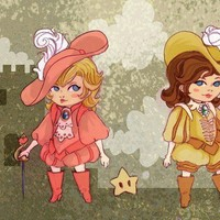 Princes Peach and Daisy by theGorgonist on Etsy