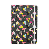 """Louise Machado """"Pieces of Heart"""" Pink Yellow Everything Notebook"""