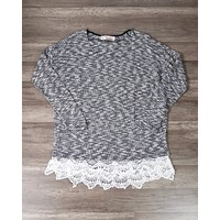Final Sale - All Lace on Me Sweater Tunic in Grey