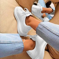Alexander McQueen New Tyle Fashionable Women Men Casual Sports Running Shoes Sneakers Full White