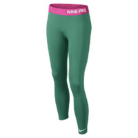 Nike Pro Girls' Training Tights Size Medium (Green)