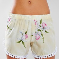 Wonderland Honolulu Orchid Pompom Short - Urban Outfitters