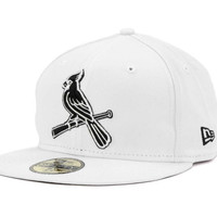 St. Louis Cardinals MLB White And Black 59FIFTY
