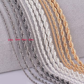 doitonthecheap 1 piece 3 Colors Rope Chain Necklace For Women and Men