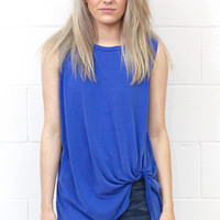 Get Twisted Comfy Tank Basic {Royal}