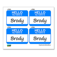 Brody Hello My Name Is - Sheet of 4 Stickers