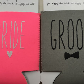 Bride or Groom Koozie