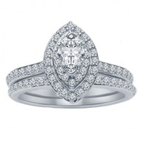 1/5ct tw Diamond Wedding Ring in 14K White Gold - Ladies Wedding Rings - Wedding Rings
