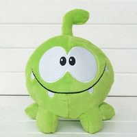 """2015 so kawaii 7""""20cm om nom frog plush toys cut the rope Soft rubber cut the rope figure classic toys game lovely gift for kids"""