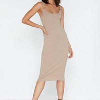 Oh Well O-Ring Midi Dress