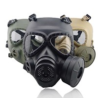 Tactical Head Masks Resin Full Face Fog Fan For CS Wargame Airsoft Paintball Dummy Gas Mask with Fan For Cosplay Protection