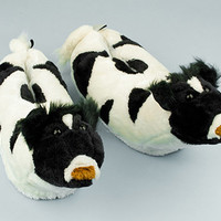 Cow Slippers | Animal Slippers | BunnySlippers.com