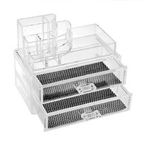 FACILLA® Cosmetics Organizer Clear Acrylic Makeup Organizer Holder Multiple Display