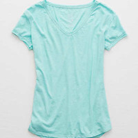 Aerie Real Soft® V-Neck Tee, Fall Mint