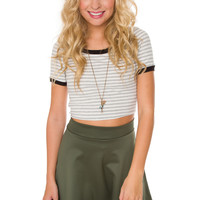 Lydia Striped Crop Top