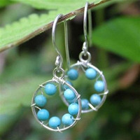 WorldFinds Turquoise Inner Circle Earrings