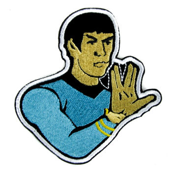 Spok Star Trek Patch Iron on Applique Scifi Clothing