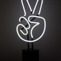 Peace Sign Neon Desk Light