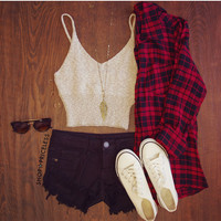 Mel Plaid Top
