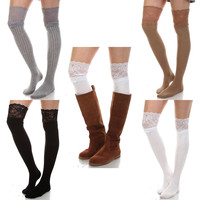 Lady in Lace Boot Socks: Multiple colors