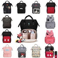 Disney USB Diaper Bag Backpack Mummy Maternity/Nappy Bag baby bag Baby Mickey Mouse