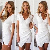 Sexy Women's Summer Bandage Bodycon Lace Evening Party Cocktail Short Mini Dress = 1956655044