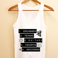 Limited Edition Tanktop 5 second of summer logo, 5sos logo,5sos quotes shirt Tank top Mens and Tank top girl Available in  distropero