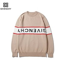 Givenchy Autumn And Winter New Fashion Anti- Letter Print Women Men High Quality Long Sleeve Top Sweater Apricot