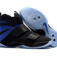 "Nike LeBron Soldier 10 EP ""Game"" Black/Royal Blue Sneaker US7-12"