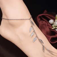 Jewelry New Arrival Gift Stylish Sexy Cute Ladies Shiny Accessory Summer Beach Casual Leaf Tassels Anklet [6768801479]