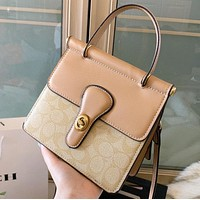 COACH New fashion pattern leather shoulder bag crossbody bag handbag