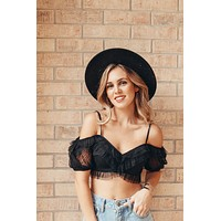 Amaia Crop Top Black