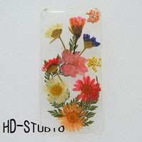Cute Pressed flower iphone 6 Plus case, real pressed flower iphone 6 case, real flower iphone 5 /5c / 4 case