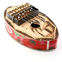 Large Oval Recycled Tin Can Kalimba Musical Instrument