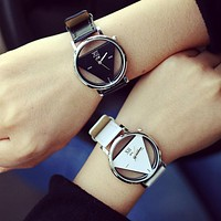 Couple Lover's Watches Unique Hollowed-out Triangular Dial Watch Women Men Dress Watch relogio masculino IMY66