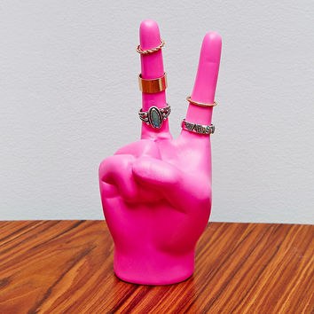Peace Hand Ring Holder in Pink - Urban Outfitters