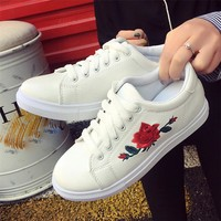 Sagace Flower embroidery trend loafers women sneakers women platform shoes autumn casual women shoes zapatos de mujer MAY 16