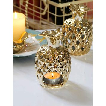 1pc Pineapple Shaped Candle Holder