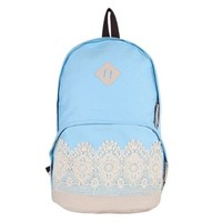 YOUR GALLERY Unisex Cute Pattern Vintage Denim Backpack Outdoor Campus Satchel