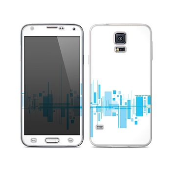 The Abstract Blue Skyline View Skin For the Samsung Galaxy S5