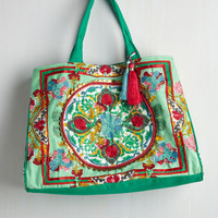 Boho Travel Far and Wise Weekend Bag in Meadow by ModCloth