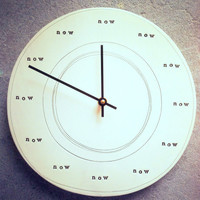 clock 1075 now  MADE TO ORDER by mbartstudios on Etsy
