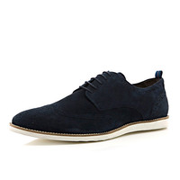 River Island MensNavy suede lace up EVA sole brogues