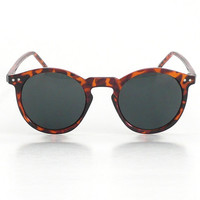 Tortoise Mens Round Frame O'Malley Sunglasses by AmericanDeadstock