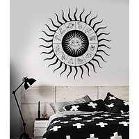 Vinyl Wall Decal Zodiac Signs Horoscope Sun Bedroom Design Stickers Unique Gift (842ig)