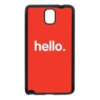 Hello Black Silicon Rubber Case for Galaxy Note 3 by textGuy