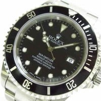 Auth ROLEX Sea-Dweller 16600 Silver, Black A691503 Mens Wrist Watch