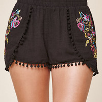 Me To We Pom-Pom Trim Tulip Shorts at PacSun.com
