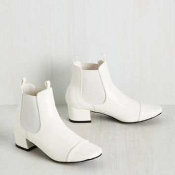 Get Up and Go-Go Bootie in White