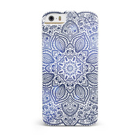 Dark Blue Indian Ornament iPhone 5/5S/SE INK-Fuzed Case